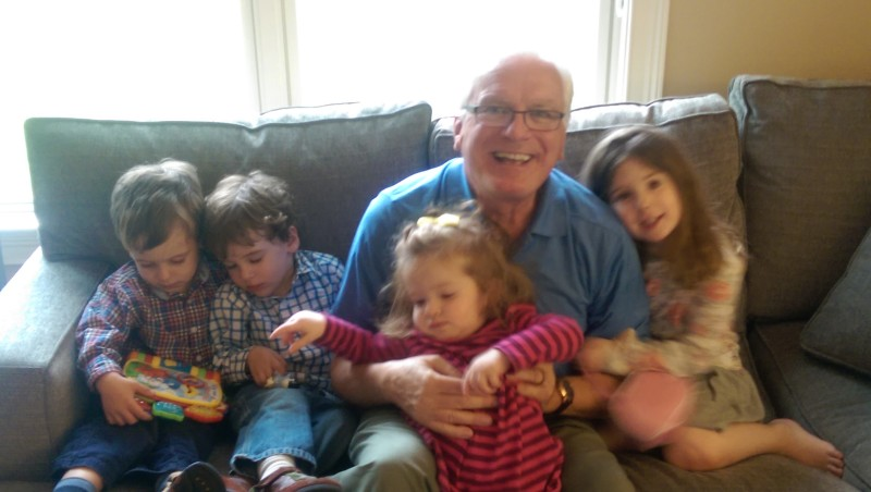 Frank with his grandchildren