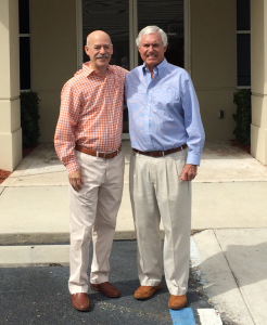 Wayne (right) with GNL President Ed Boyer
